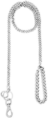 Martine Ali Silver Solid Curb Leash