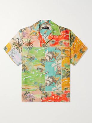 Amiri Camp-Collar Floral-Print Silk-Twill Shirt - Men - Multi