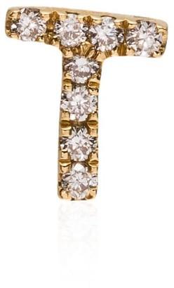 Loquet 18kt yellow gold T letter diamond charm
