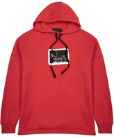 Blood Brother Tower Red Hooded Cotton Sweatshirt