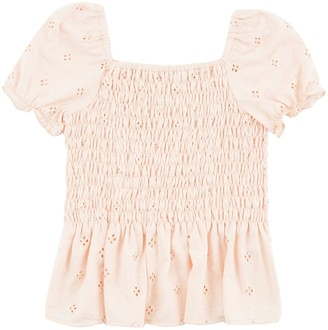 Speechless Girls 7-16 Smocked Eyelet Top