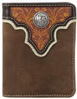 Ariat Men's Top Concho Overlay Bifold Tan
