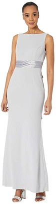 Adrianna Papell Knit Crepe Dress (Bridal Silver) Women's Dress