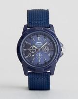 Slazenger Nylon Strap Watch In Navy