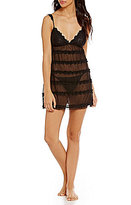 Flora Nikrooz Isadora Tiered Mesh & Lace Chemise