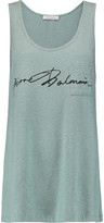 Pierre Balmain Printed cotton tank