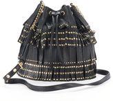 Juicy Couture Studded Fringe Drawstring Bucket Bag