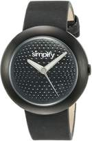 Simplify Women's SIM1207 The 1200 Leather Watch