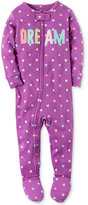Carter's 1-Pc. Heart-Print Dream Footed Pajamas, Baby Girls (0-24 months)