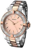 Seksy Rose Tone Dial Two Tone Bracelet Ladies Watch