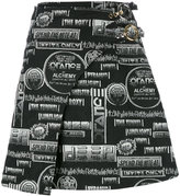 Kenzo Flyer wrap skirt - women - Cotton/Acrylic/Polyester/other fibers - 34