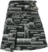 Kenzo Flyer wrap skirt