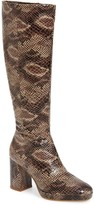 Topshop Toronto Snake Print Knee High Boot