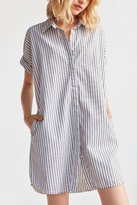 Ecote Yarn Dyed Button-Down Shirt Dress