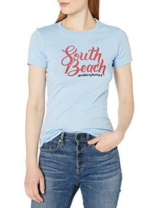 South Beach Marky G Apparel Women's Graphic Printed Short Sleeve Slim Fit T-Shirt