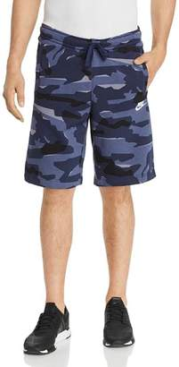 Nike Club Camouflage-Print Sweat Shorts
