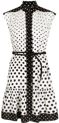 Zimmermann Silk High Neck polka-dot dress