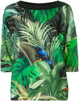 Max Mara tropical print T-shirt - women - Silk/Spandex/Elastane/Viscose - S
