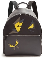 Fendi Butterfleye Leather-trimmed Backpack
