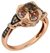 LeVian Chocolate and White Diamond 14K Rose Gold Ring, 0.91 TCW