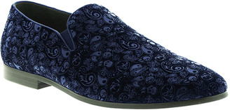Robert Graham Men's Rodin Paisley Suede Smoking Loafers