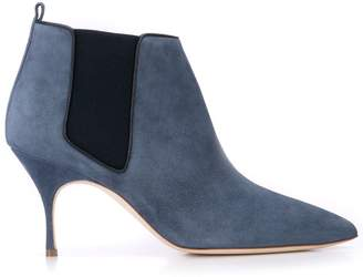 Manolo Blahnik pointed toe ankle boots