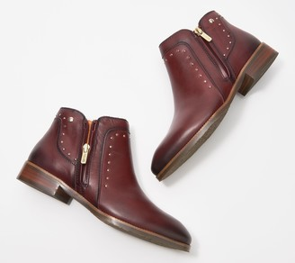 PIKOLINOS Leather Studded Ankle Boots