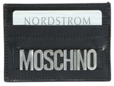 Moschino Women's Letters Card Case - Black