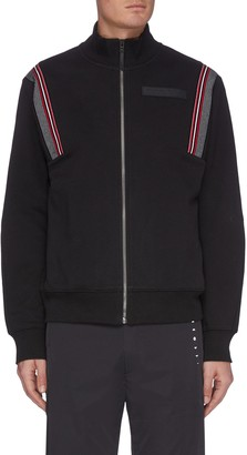 Particle Fever Stand collar shoulder stripe zip jacket