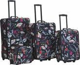 Rockland 4 Piece Printed Luggage Set F138