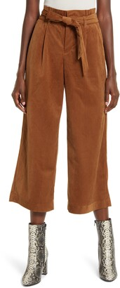 Vero Moda Londyn High Waist Corduroy Paperbag Waist Pants