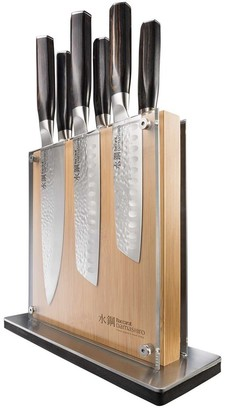 Baccarat Damashiro Emperor Shi Knife Block 7 Piece