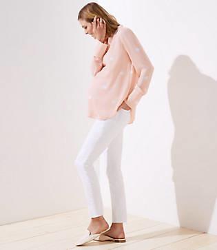 LOFT Petite Maternity Modern Skinny Jeans in White
