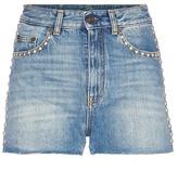 Saint Laurent Embellished denim shorts