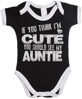 Buzz Shirts If you think im cute you should see my auntie funny baby boy/girl babygrow vest ~