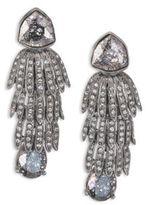 Oscar de la Renta Wisteria Crystal Clip-On Earrings