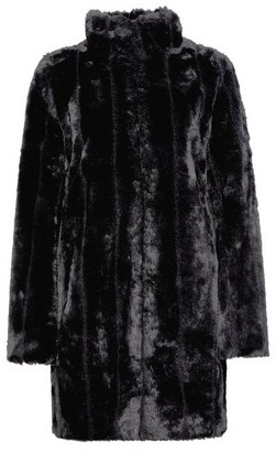 Dorothy Perkins Womens Black Pelted Faux Fur Coat, Black
