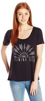 O'Neill Junior's Shining Sun Sunrise Scoop Neck Graphic Tee