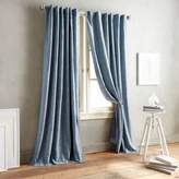 DKNY Front Row 108-Inch Back Tab Window Curtain Panel in Indigo