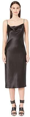 Fleur Du Mal Cowl Neck Slip Dress (Black) Women's Clothing