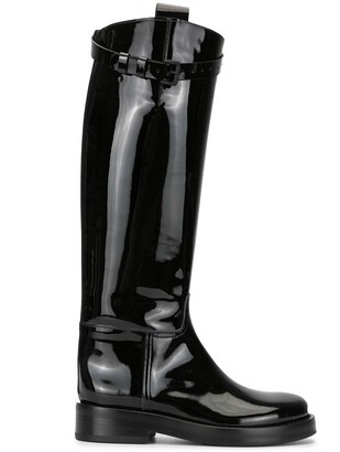 Ann Demeulemeester Varnished Knee Boots