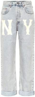 Gucci NY Yankees straight-leg jeans