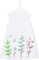 Simonetta embroidered flower dress - kids - Cotton - 6 yrs