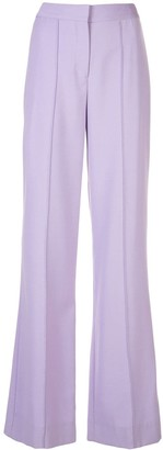 Adam Lippes Pintuck Wide-Leg Trousers