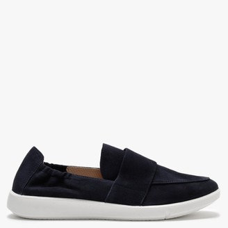 Legero Lucca Navy Suede Chunky Sole Loafers