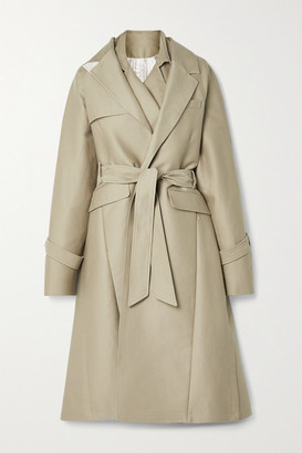 Peter Do Oversized Layered Cotton-gabardine Trench Coat - Beige