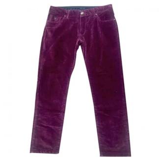 Louis Vuitton Burgundy Velvet Trousers