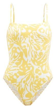 Eres Mantaray Coralsand-print Swimsuit - Yellow White