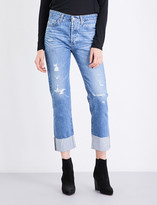 AG Jeans The Sloan straight high-rise jeans
