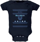 Old Glory My First Hanukkah Navy Soft Baby One Piece - 0- months